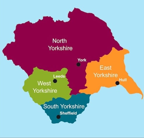 Yorkshire Map Regions