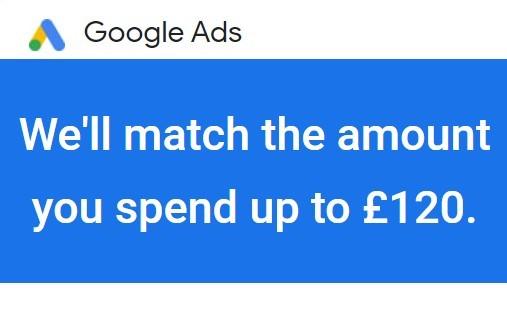 Google Ads £120 Initial Discount